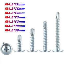 M4.2 Tapping Screws Self Drilling Tapper Philips Truss Washer Head All Lengths