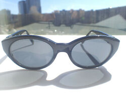 Gianni Versace 290/a Black Cat's Eye Sunglasses W/case Italy Col. 852