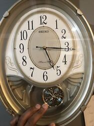 Seiko Melodies In Motion Wall Clock Animated Musical Qxm549sl As Is