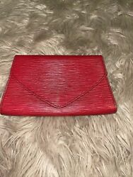 Vintage louis vuittons Red Clutch $228.99