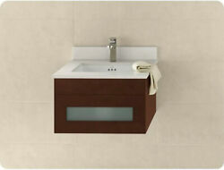 New Ronbow 010123-1-h01 Rebecca Wall Hung 23 Vanity Base Cabinet In Dark Cherry