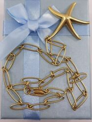 And Co Elsa Peretti Spain Large Starfish Pendant Necklace 750 Gold 22gr