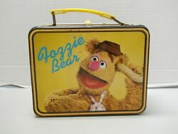 1979 Fozzie Bear Fozzy And Muppets Metal Lunch Box Jim Henson No Thermos