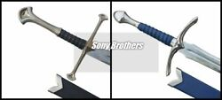 Lotr Pair Of Glamdring Sword Of Gandalf And Anduril Aragorn Swords With Scabbard
