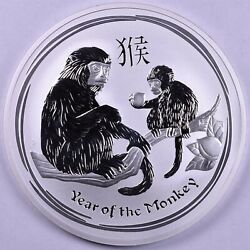 2016 Australia Year Of The Monkey 10 Oz Silver 10 With Plastic Capsule