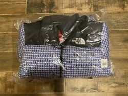 Supreme The Studded Nuptse Jacket Extra Large Blue Authentic In Hand