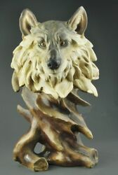 Resin Wild Animals Wolves Hand Painted Simulation Model Figurine Statue