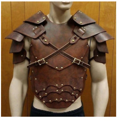 Medieval Leather Armour Cuirass Viking Breastplate Cosplay Norse Mythology