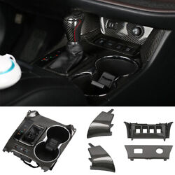 Real Carbon Fiber Central Console Gear Shift Cover For Toyota Highlander 14-2019