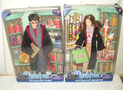 11175 Rare Nrfb Mattel Harry Potter Hogsmeade Harry And Hermione Dolls