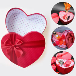 1/3pcs Gift Box Heart Shape Gift Packaging Boxes Large Necklace Box Wedding New