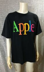 Vintage Apple Computer Rainbow Spellout Promo T-shirt One Size Made In Canada