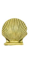 Bookends Vintage Solid Brass Clam Shell Set Of Nautical Beach Decor 5