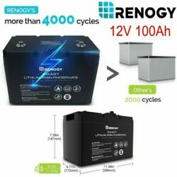 Open Box 100ah 12v Smart Lifepo4 Lithium Iron Phosphate Battery Deep Cycle Bms