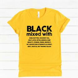 Black Woman Melanin Black Pride Black People Afrocentric Tee Mixed With T shirt