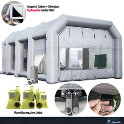 Sewinfla 30x20x13ft Inflatable Paint Booth With Blowers / With Air Draft Device