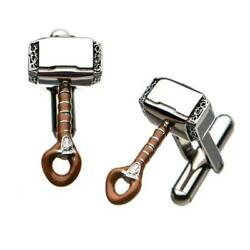 Marvel Thorand039s Hammer Stainless Steel Cuff Links