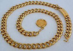 Chain Belt Gold Plaque And Cc Coins