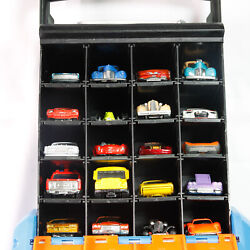 Hot Wheels Way Too Fast Storage Carry Case With 20 Vintage Cars. Nice. See List.