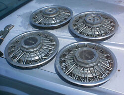 1984 Lincoln Town Car Wire Hubcaps Custom Rod Fomoco Other Continental 15 Inch