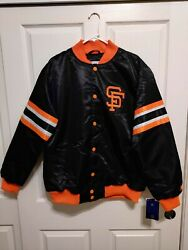 San Francisco Giants Satin Jacket Starter Mens Xl Quilted Lining New With Tags