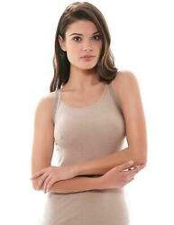 Wacoal Purity Camisole Top Size S 10 12 Vest Cami Dawn Beige Stretch Lace New