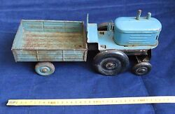 Vintage And Rare Tractor Lorry Russian Ussr Metal Toy Big Model Truck 1950s Car