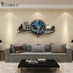 Large Clock Modern Quality Acrylic Watch Bedroom Wall Decoration Interior