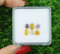 3.05 Ct/6 Pcs Fancy Mix Shape And Pink And Vivid Yellow Color F14-2