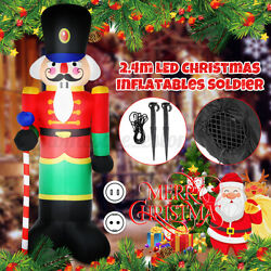 2.4m Led Christmas Inflatables Soldier Halloween Outdoors Ornaments Shop Decor