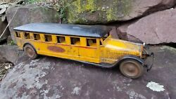 Rare 1928 Dayton Friction Toy Co. American De Luxe Bus Original 26