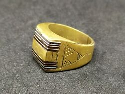 Lovely African Ring Bronze Vintage-antique Old Handmade Carved Very Rare Jewelry