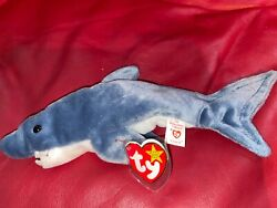 1996 Retired Crunch Beanie Baby With All Tags/ Comes In Display Case P.v.c.