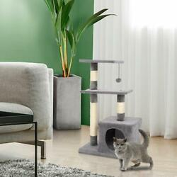 Cat Tree For Large Cats 32quot; Tower H Climbing Pet Scratcing post Kitten Furniture