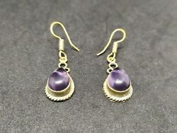 Old Earrings African Bronze Antique Very Stunning Stones Rare Jewelry Handmade