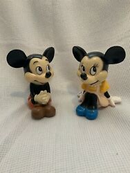 Vintage Mickey Mouse Coin Bank Walt Disney Productions
