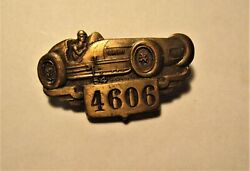 1954 Indianapolis 500 Speedway Race Car Pin Back Brass Badge 4606