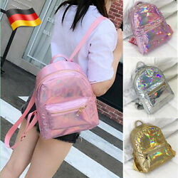 US Women Hologram Backpack Girl Laser Tote School Shoulder Bag Rucksack Satchel $10.99