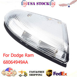 Front Driver Mirror Turn Signal Light Lamp For 09-14 Dodge Ram 1500 And 10-14 2500