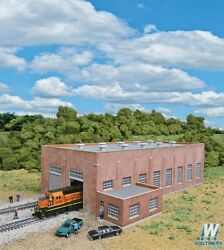 New Walthers Two-stall 130' Brick Diesel House Kit N Scale Train Free Us Ship