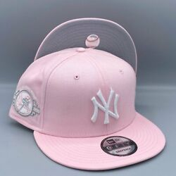 New York Yankees 100th Anniversary 9FIFTY New Era Pink Snapback Hat