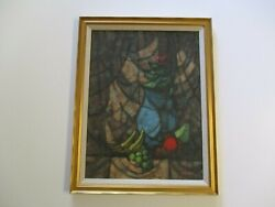 Kermit Epperson Painting American Expressionist Still Life Modernism Cubist Rare