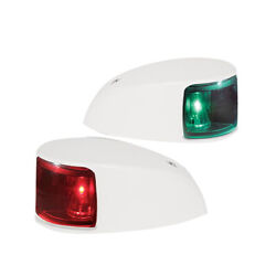 Hella Marine Naviled Deck Mount Port And Starboard Pair - 2nm - Colored Lens/white