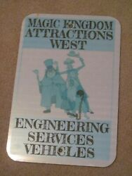 Magic Kingdom Attractions West Engineering Vehicles Haunted Mansion Disney Sign