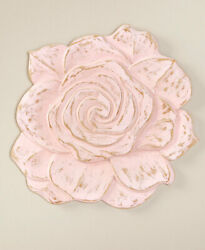 16quot; Wooden Carved Wall Flowers Home Décor Pink Rose