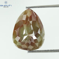 7.75 Ct Pear Modified Brown Green Red Natural Loose Diamond Skun24sp-6