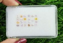 1.80 Ct/23 Pcs Mix Fancy Shape And Pink And Orange Color Sku F16-5
