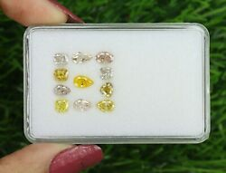4.09 Ct/11 Pcs Mix Fancy Shape And Pink And Orange Color Sku F19-16