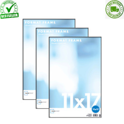 Set of 3 11 x 17quot; Format Picture Frame Wall Black Poster Vertical Horizontal New