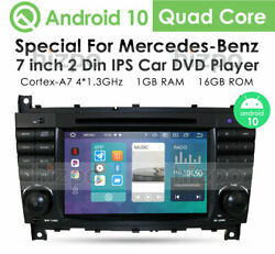 7 Android10 Dvd Radio For Mercedes Benz C-class C300 C350 Clk500 Gps Stereo Nav